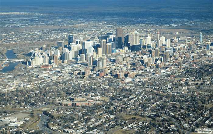 Calgary's downtown area
